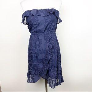 Lilly Pulitzer Navy Strapless Ruffle Dress